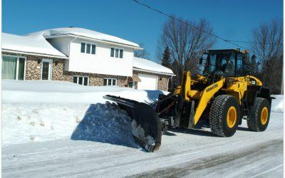 Les opérations pour l'entretien hivernal sont en cours