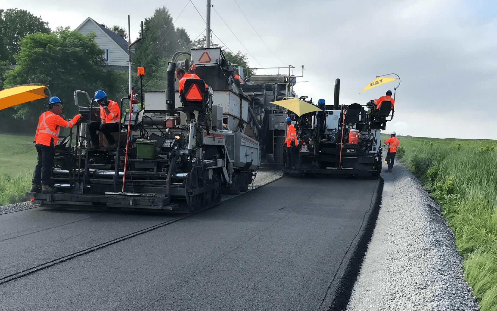 Travaux d'asphaltage