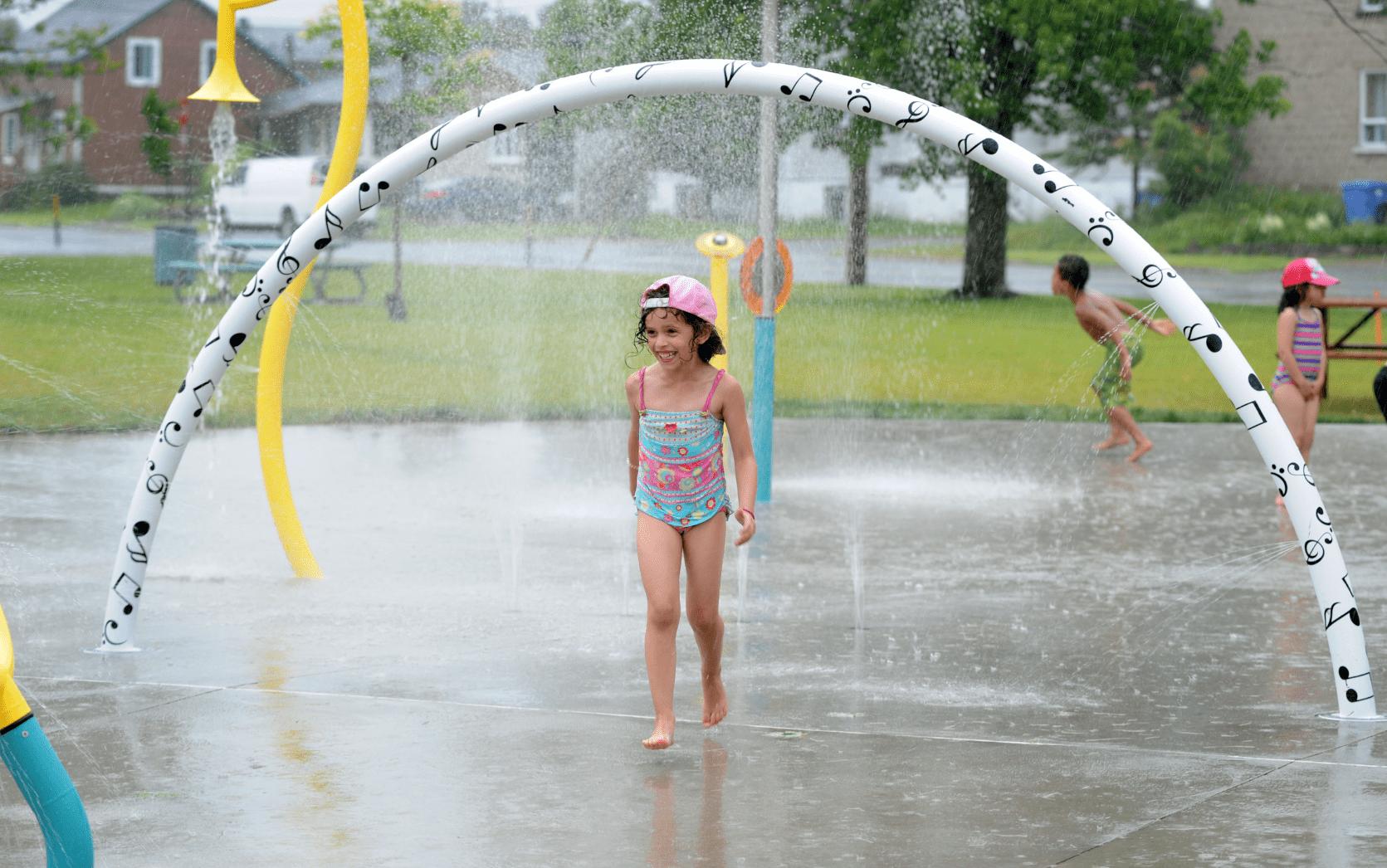 Jeux d'eau du parc Florence-Lawless-Lacroix