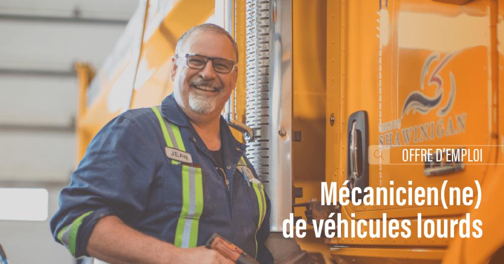 Offre d'emploi : Mécanicien(ne) de véhicules lourds