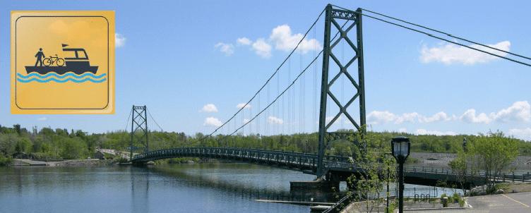 Bateau-passeur près du pont de Grand-Mère