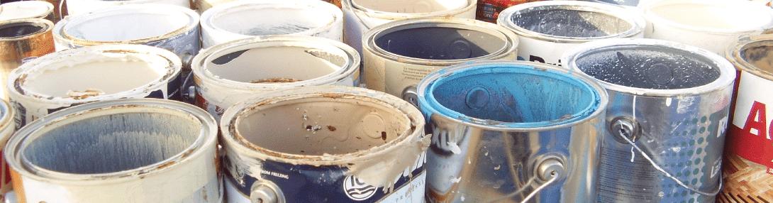 Pots de peinture à l'écocentre