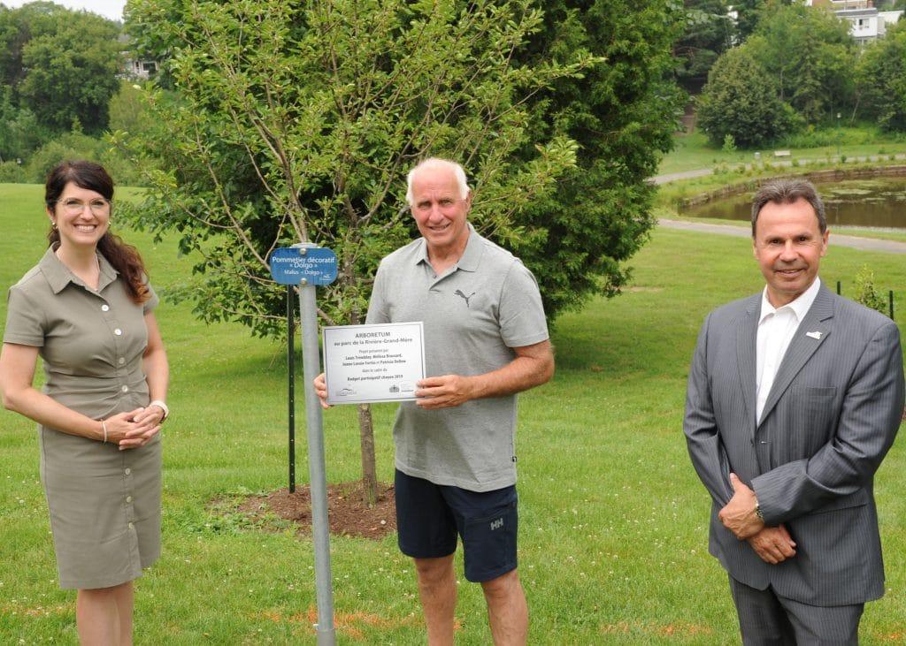 Inauguration du projet d'Arboretum dans le parc de la Rivière-Grand-Mère